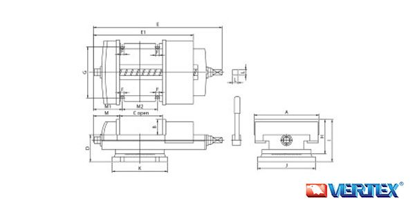 Machine Vise For Shaping & Milling Use
