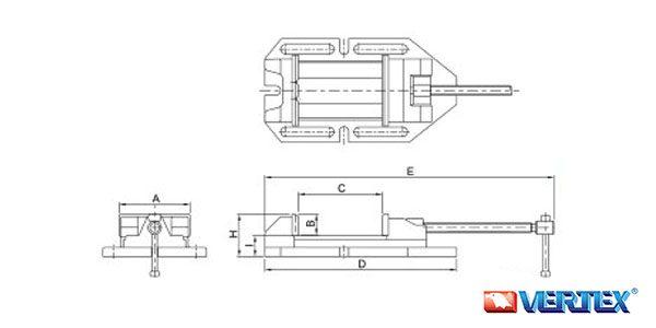 Super Open Drill Vise (Euro Type)